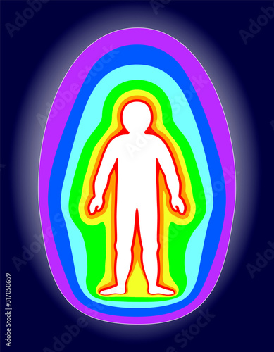 The aura of the body Canvas Print