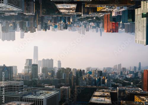 Futuristic multiverse world concept Fototapeta