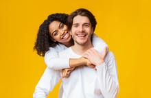 Young Interracial Couple In Lo...