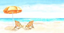 Seascape.Tropical Beach With S...