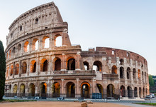 Colosseum At Sunrise In Rome, ...