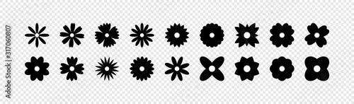 Obraz Flowers vector icons. Flower icon. Flowers isolated on transparent background. Flowers in modern simple flat style. Eps10 - fototapety do salonu