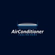 Leinwanddruck Bild - Air condition logo concept vector. Technology device for adjust air condition