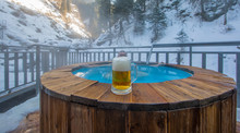 Beer Mug, Thermal Pool In The Mountains In Winter