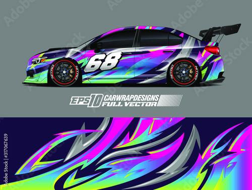 Fotografie, Obraz Rally car wrap decal design