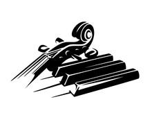 Violin Neck And Piano Keys Ens...