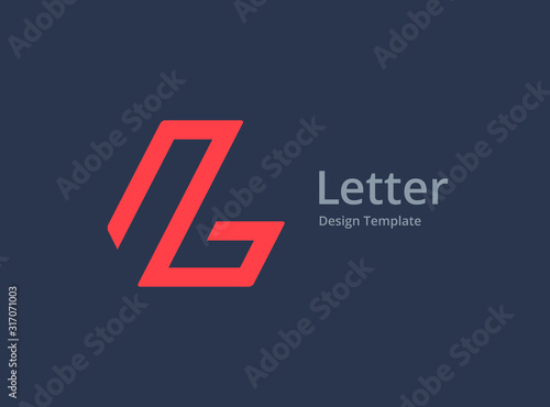 Obraz Letter L logo icon design template elements - fototapety do salonu