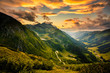 canvas print picture - View from Solkpass to the north, Austria