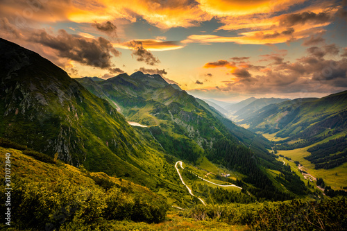 View from Solkpass to the north, Austria Canvas Print