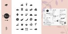 Icons Set For Restaurant Menu....