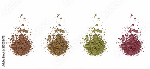 Cosmetic powder isolated on white