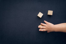 Wooden Cube Alphabet Closeup A...