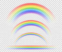 Vector Isolated Rainbow Object...