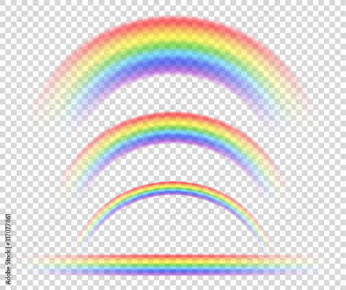 Obraz na plátně Vector isolated rainbow object, on transparent background, symbol of sexual minorities