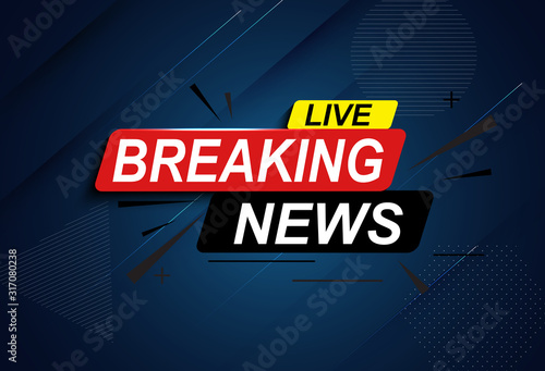 Fotomural Live Breaking News Abstract Background Vector Illustration