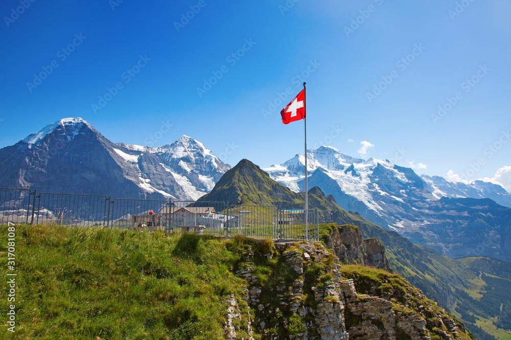 Fototapeta Swiss flag