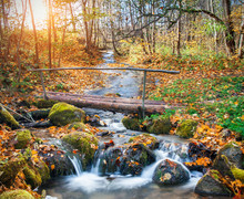 Beautiful Cascade Waterfall  A...