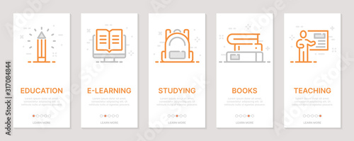 Photo Education realted vertical cards