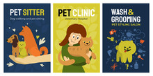 Set Of Posters For Vet Clinic,...