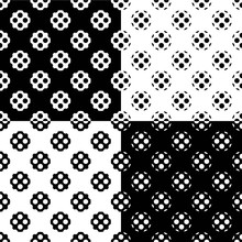 Four Different Seamless Monoch...
