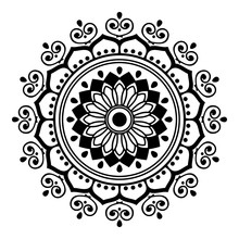 Black And White Mandala For Co...