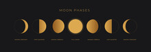Phases Of A Golden Moon On A B...