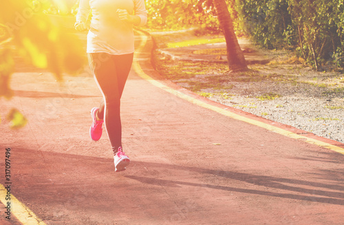 Leinwand Poster Fitness woman jogging