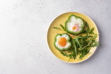 Fried Eggs Shamrock In Green P...