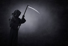 Grim Reaper With Scythe In The...