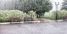 Rain And Hail On A Summer Day....