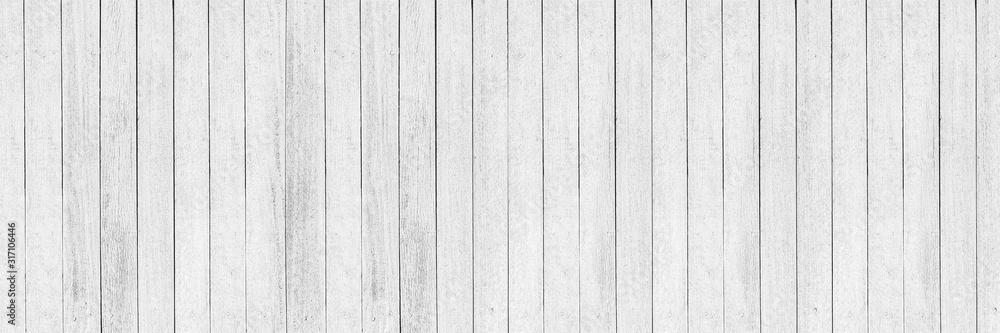 Fototapeta horizontal white wood design for pattern and background