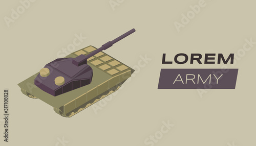 Modern army flat banner vector template Wallpaper Mural