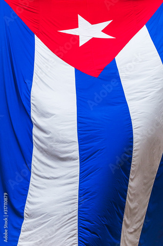 Fototapeta Cuban flag up close