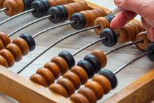 Vintage Abacus Closeup. Accoun...