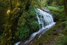 Lan Sadet Waterfall ,The Small Waterfall In Kiw Mae Pan Natural Trail Doi Inthanon Chiang Mai Thailand