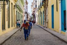 Workmen In Old Havana