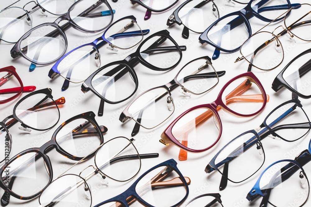 Fototapeta full frame shot of glasses in store