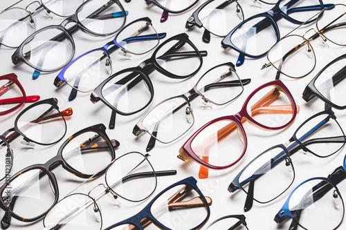 Obraz full frame shot of glasses in store - fototapety do salonu