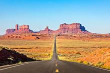 Scenic Road Leading To Monumen...