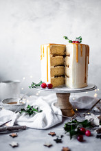 Mince Pie And Almond Layer Cak...