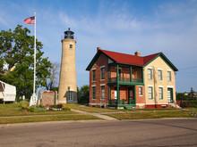 Kenosha Lighthouse Southport Light And Keeper's House