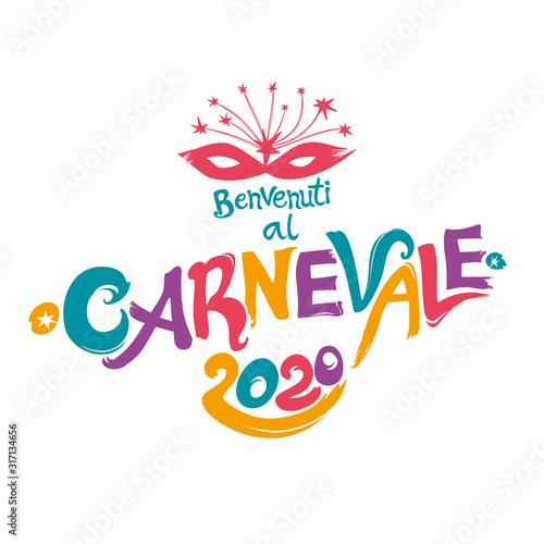 Benvenuti al Carnevale Canvas Print