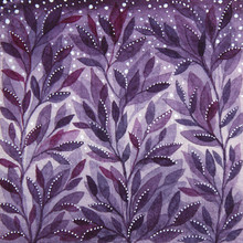 Watercolor Purple Pattern With...