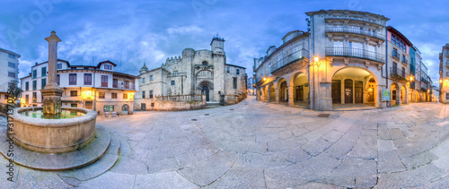 360 photo of the exterior of the cathedral of San Martin in Ourense