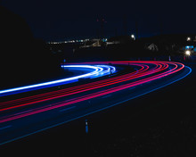 Night Long Exposure Roads