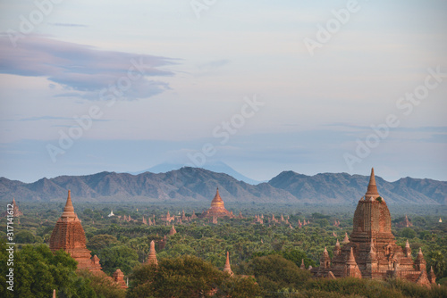 Bagan pano Wallpaper Mural