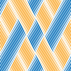 Seamless pattern with blue and orange oblique ellipses