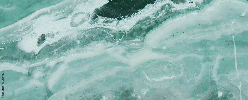 Fototapeta blue ocean Marble rock stone texture wallpaper background