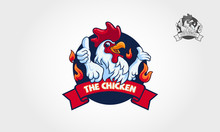The Chicken Logo Illustration....