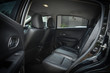 canvas print picture - black leather of back seat interior inside modern vehicle car automobile